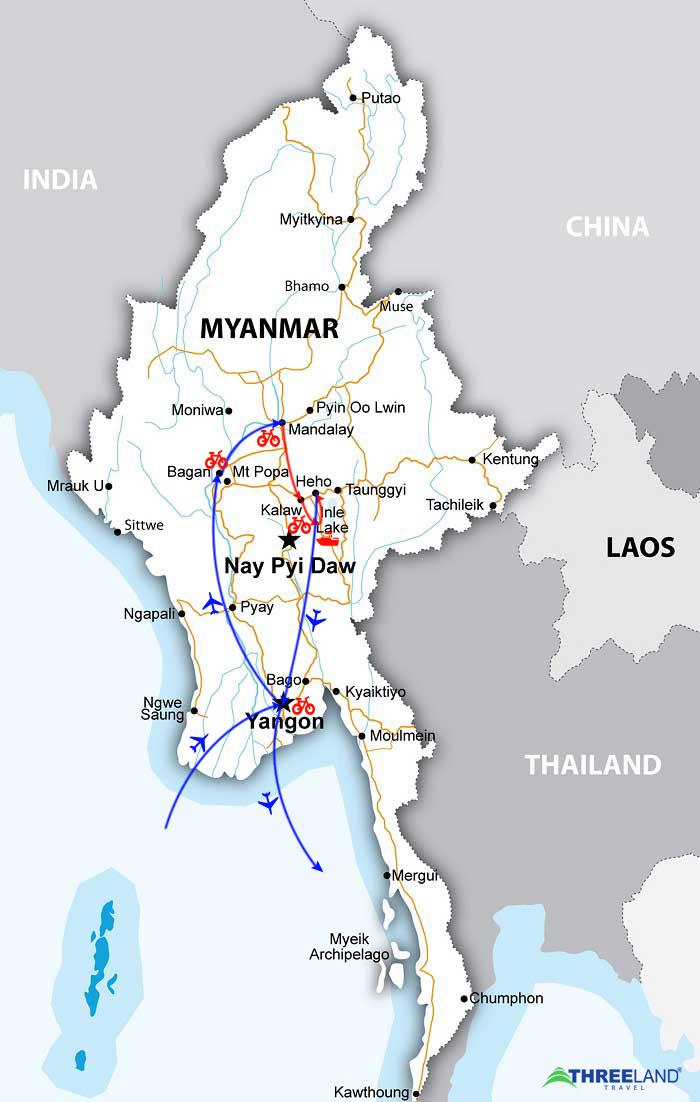 Two-Week Myanmar On The Bike